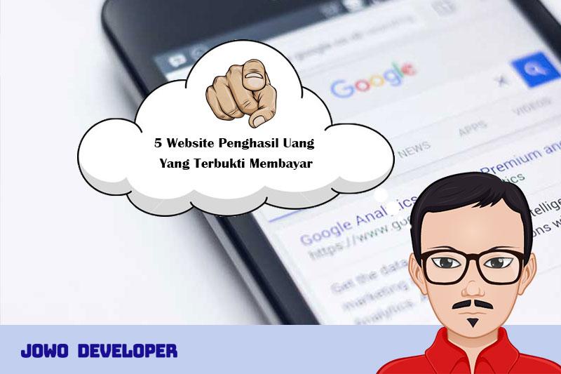 5 Website Penghasil Uang Yang Terbukti Membayar