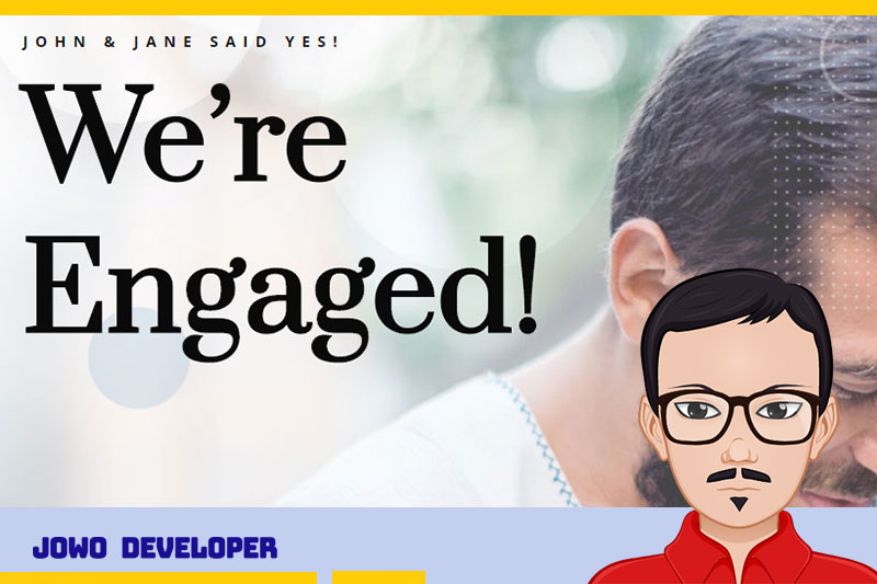Tunangan Pernikahan bisa Buat Website, inilah contoh Desain Web Pernikahan